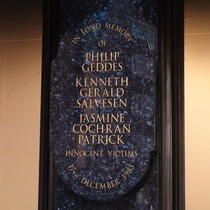 Harrods bombing - upper plaque