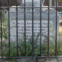 Stanley School WW1 memorial