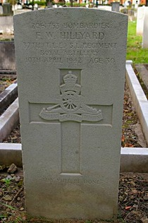 members of the Royal Artillery who died in WW2