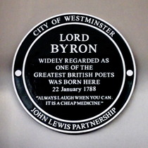 Lord Byron - Westminster plaque