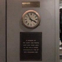 King's Cross fire - clock