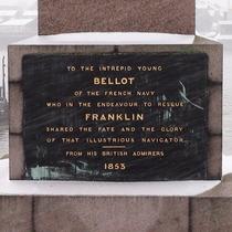 Bellot memorial obelisk