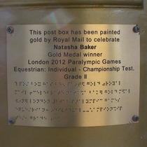 Natasha Baker gold post box