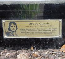 Marc Bolan shrine - plaque - Currie