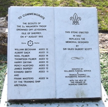 Walworth Boy Scouts Tragedy - new memorial