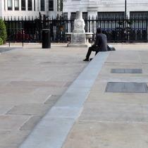 John Law Baker fountain + Conroy