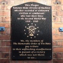 MOTH Hackney WW2 memorial