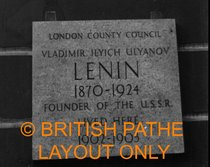 Lenin - Holford Gardens - plaque