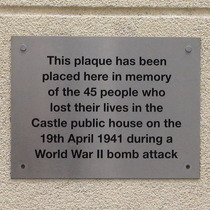 Castle pub WW2 bomb
