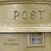 Gold post box - Westminster
