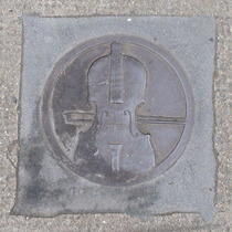 Bowler plaque - Violin and Bow