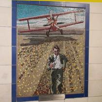 Hitchcock mosaics 04 - North by Northwest, 1959