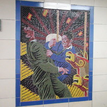 Hitchcock mosaics 12 - Strangers On a Train, 1951