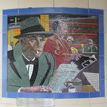 Hitchcock mosaics 16 - The Wrong Man, 1956
