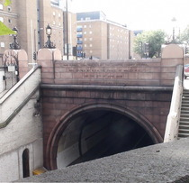 Entrance to the Rotherhithe Tunnel - north