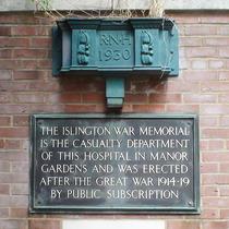 RNH - WW1 memorial plaque