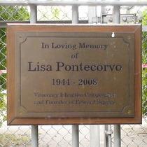 Lisa Pontecorvo plaque