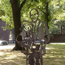 Michael Bond steel statue