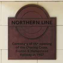 Northern Line (part) centenary - Belsize Park