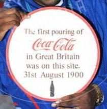 Coca-Cola lost plaque