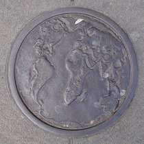 Bowler plaque - World Map