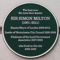 Sir Simon Milton plaque