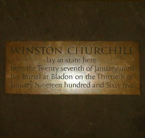Westminster Hall - Churchill