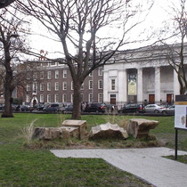 Euston Arch - temporary stones
