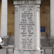 St Marks, Kennington - WW1 memorial