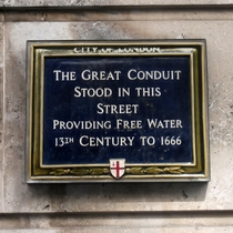 Great Conduit in Cheapside - blue
