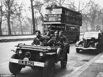 American troops in WW2 in London