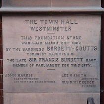 Caxton Hall - foundation stone