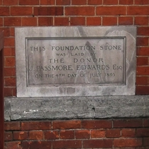Shepherd's Bush Library - foundation stone