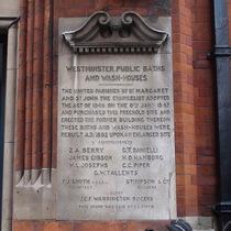 Wash-house foundation stone