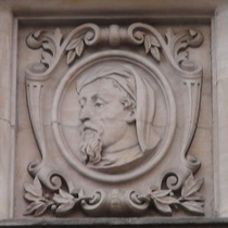Old Westminster Library - head 3 - Chaucer