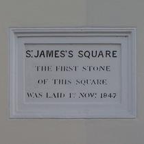St James's Gardens - foundation stone