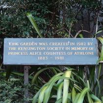 Kensington Library - Princess Alice Garden - created