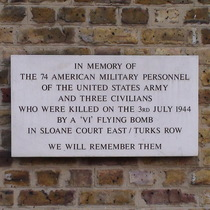 Sloane Court East bomb - wall plaque