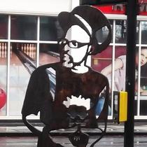 Jazzie B - steel statue