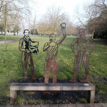 Adams, Howard and Tull - steel statues