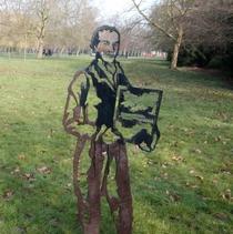 Luke Howard - steel statue