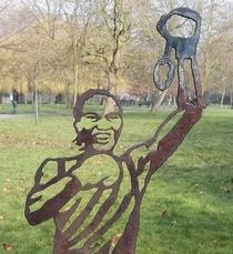 Nicola Adams - steel statue