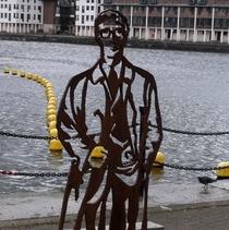 Michael Caine - steel statue