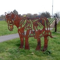 Towpath Horse - steel statue