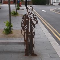 Ronnie Corbett - steel statue