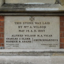 St Michael & All Angels Church - additions foundation stone