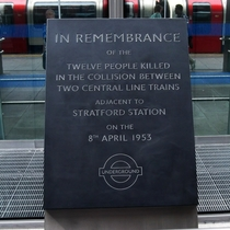 Stratford Underground crash