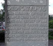 Ladbroke Grove rail disaster - monument