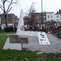 Bethnal Green WW2 disaster - monument