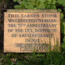 Archaeology standing stone